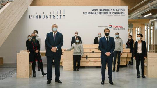 L'INDUSTREET OFFICIALLY OPENED BY THE FRENCH PRESIDENT